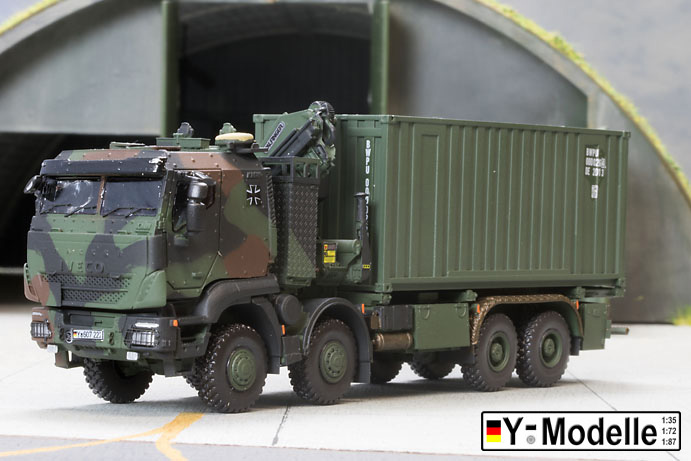IVECO GTFz 15to., mit Kran, Containertransporter mit 20FT Container